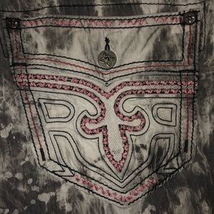 "Men's Rock Revival ""Grey Tie-Dye Short"" Shorts"